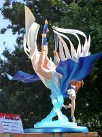 Belldandy Flying over Water 6 by ogamitaicho