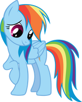 Rainbow Dash -- My first vector by MarillTachiquin