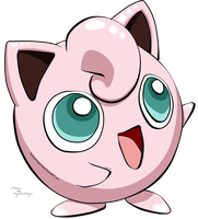 Jigglypuff - Pokemon by RainbowDragonKasai