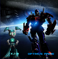 JENNY XJ9 AND OPTIMUS PRIME by mayozilla