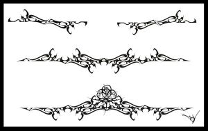 Gothic Lace Splash Tattoo 001 by Quicksilverfury