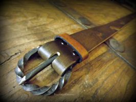 Lascaux Cave Painting Belt - Handforged Buckle by The-Beast-Man