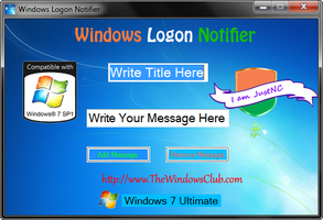 Windows Logon Notifier by JustNC