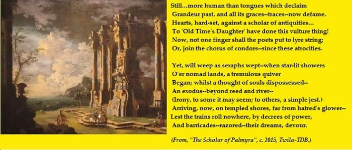 Excerpt from my poem, The Scholar of Palmyra. by ShadeOPale