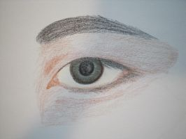 Eye sketch in colored pencil 2 by RainKitty18