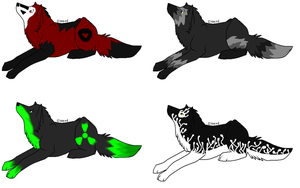 Wolf Sheet Batch 2 .:CLOSED:. by Prettyxmouse