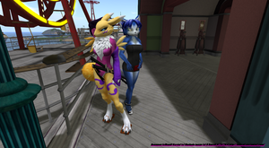 rena and krystal at park by bobcatt