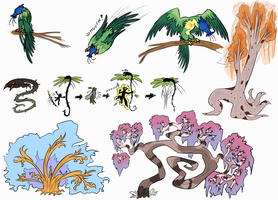 Plant Monsters #2 by Wolframclaws