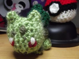 Mini Bulbasaur amigurumi by Amigurumi-Lover