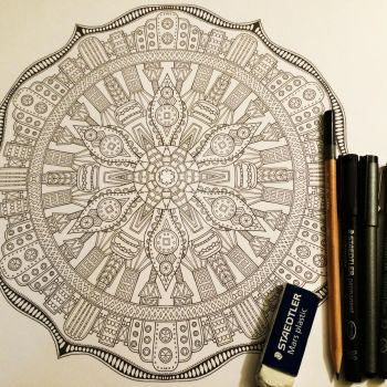 Image 17 / 35 for Advanced Mandala Coloring Vol 2 by Mandala-Jim