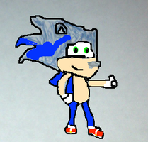 My (almost finished sonic drawing) by supermariofan54321