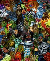 Doctor Who Monster Party by EatToast