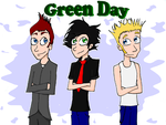 Green Day, colored by MusicalFire