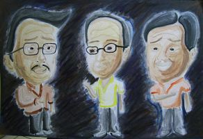 caricature of Erap, Pnoy and Villar by jetfree730