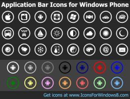 Bar Icons for Windows Phone by Ikont