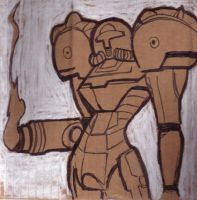 Cardboard Samus by L-MakesArt