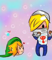 Sheik and Link by Keitchez