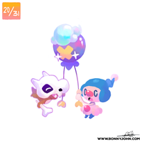 10/20 - Cubone, Mime Jr, and Drifloon!