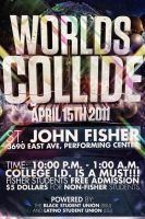 Worlds Collide Party Flyer by V1sualPoetry