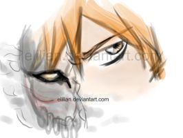 Ichigo's hollow mask by Elilian
