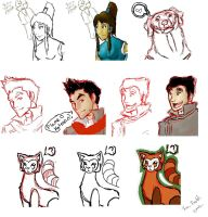 Legend of Korra Doodles by witchiamwill