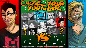 YouTubers Rumble- Fake select screen by FalconSketcher