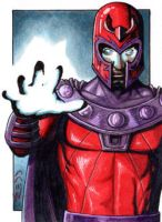 Magneto II - X-Men-Sketch Card by J-Redd