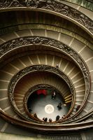 Vatican Stairs by IsailaPhotography