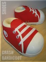 Crash Bandicoot Cosplay Shoes - Finished by Semashke