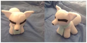 Baby Arctic Fox Plush by SmuggleMuffin