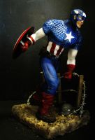 captain america painted by mycsculptures