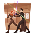 Lightsaber Training by vampiriism