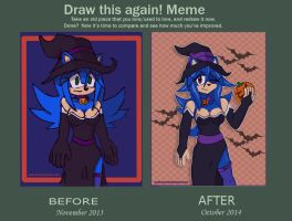 Before And After Meme(Little witch) by MOK-AXE