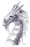 Another dragon doodle by Kayas-Kosmos