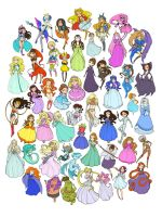50 Princesses by raevynewings