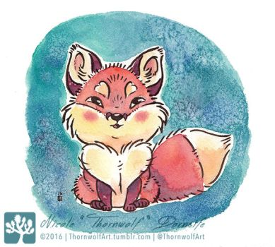Tiny Fox by thornwolf