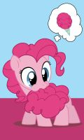 Pinkie Pie Eating Her Tail Phone Background by Elder-Misanthrope