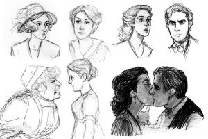 Downton Abbey Sketches by TitanicGal1912
