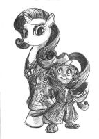 Rarity and Spike - A Lady and her Guardian by TheLivingShadow