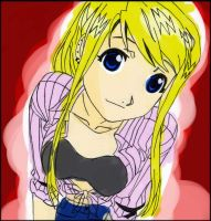 .:Winry Rockbell - Colored:. by SinfulFox