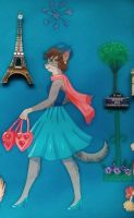 Paris Kitty by Sherryhill