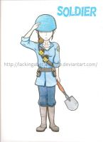 Team Fortress 2, Soldier Girl by lackingabettername