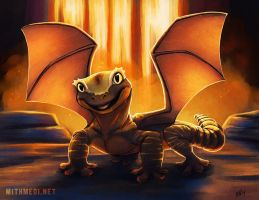 Fire Gecko Dragon by Greykitty