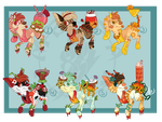 FruitSalad PupPoppies (Auction Closed) by HimeAdoptions