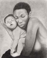 Women and Child DONE by Crystalstarr