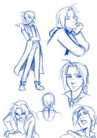 Ed Elric sketches by kra