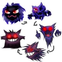 Gastly to Gengar by leonken1