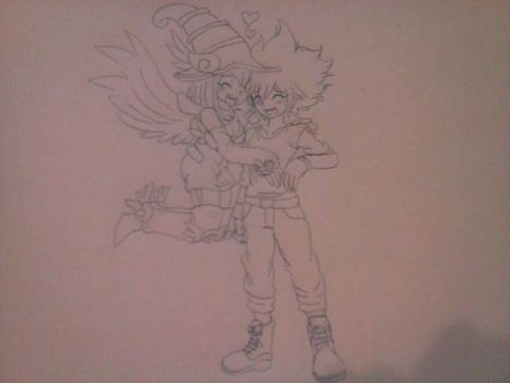 My Yugioh OC and Apple Magician Girl by cardfightvanguard62