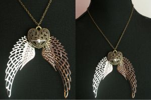 Cardia Mechanica necklace by PinkHazard
