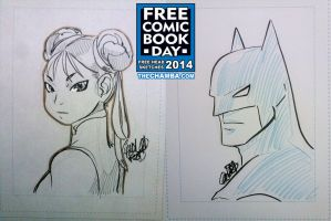 FCBD 2014 Sketches 01 - 02 by theCHAMBA